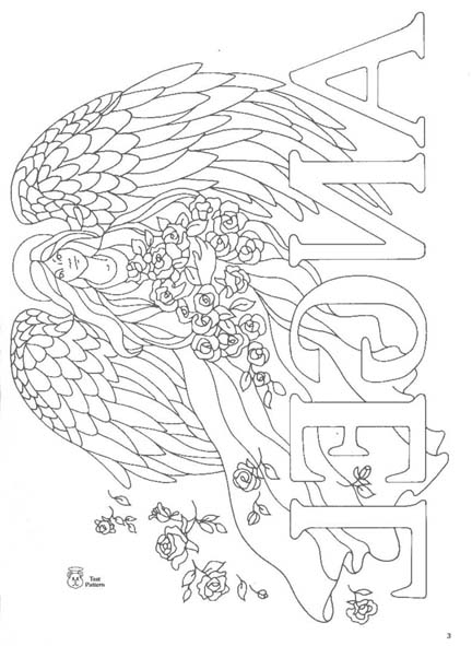 angels iron-on transfer designs for painting & embroidery