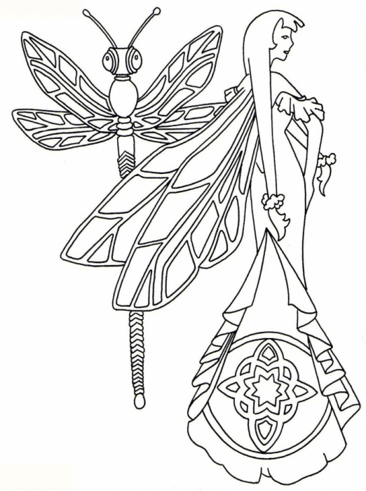 Coloring print: Fairy angles ~ Craft , handmade blog