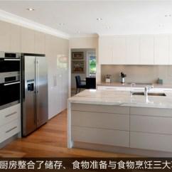 Kitchen Step Wood And Stainless Steel Island 生活美食一步到位风格化整体厨房推荐 建材导购 太平洋家居网