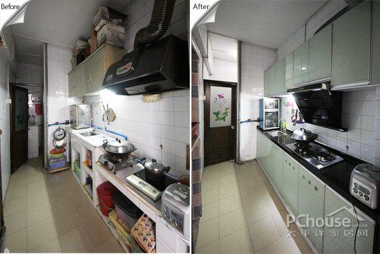 cheap kitchen remodels irish blessing 老广 晒家装千元给旧厨房改头换面 装修现场 太平洋家居网
