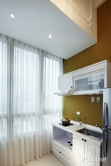 kitchen window coverings exhaust systems commercial 美式厨房窗帘搭配效果图 太平洋家居网