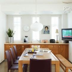 Compact Kitchens Round Kitchen Islands 户型狭小的餐厅,可以选用长条形的餐桌
