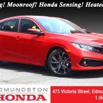 New 2020 Honda Civic Sedan Sport At Edmundston Honda 12889
