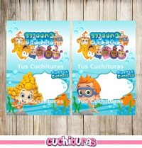 12 Bubble Guppies Food Tent Cards instant download ...