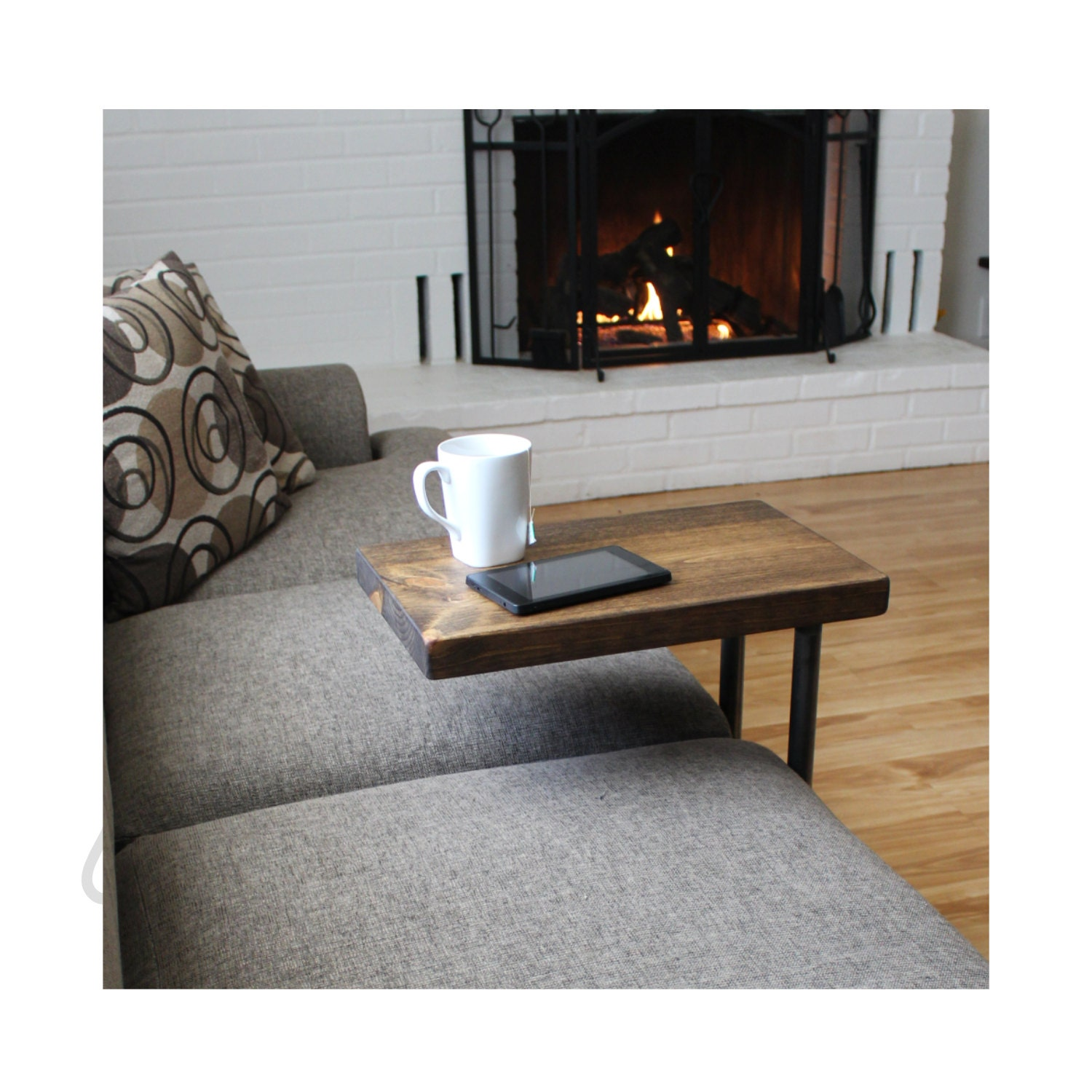 Industrial Furniture, Coffee Table, Side Table, Laptop