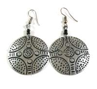 Maasai earrings, aluminum earrings, Kenyan earrings