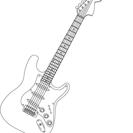 Electric Guitar Drawing, Electric, Free Engine Image For