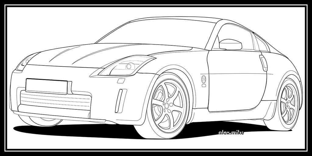 Nissan 350z Line Art by alexmike on DeviantArt