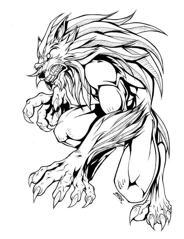 werewolf designdovianax on deviantart