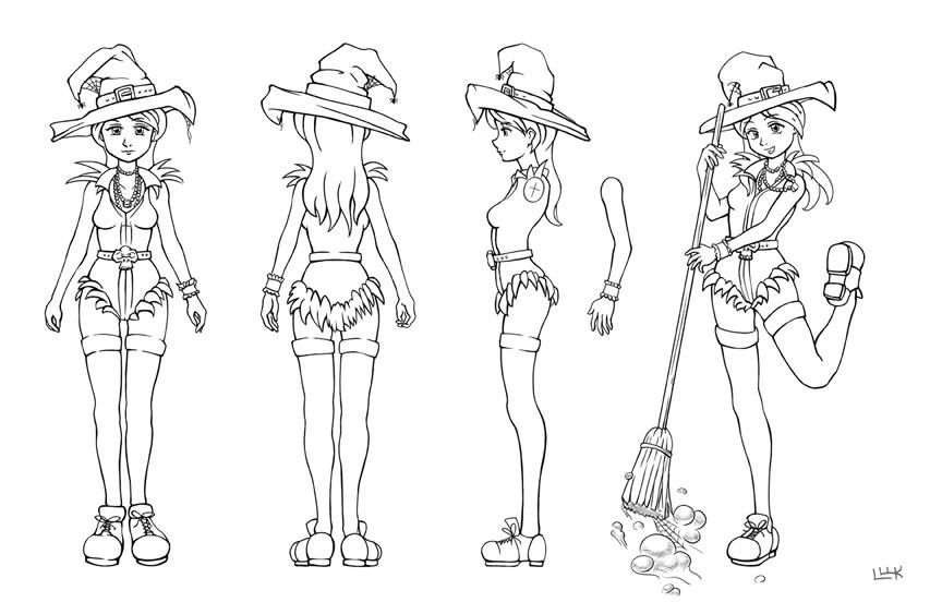 witch model sheet by BrianLukArt on DeviantArt
