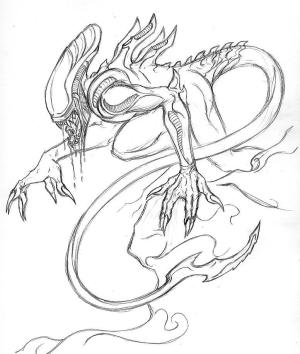 xenomorph sketch krimzon deviantart
