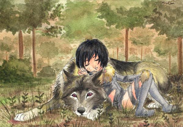 Drawing Cute Wallpaper Cute Wolf Child By Yuna Yume On Deviantart