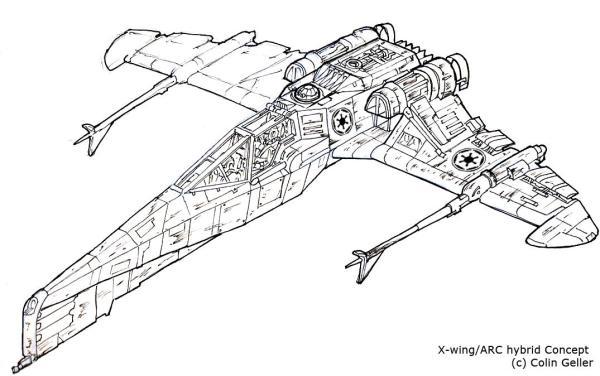 Star Wars Hybrid 1 line work by MeckanicalMind on DeviantArt