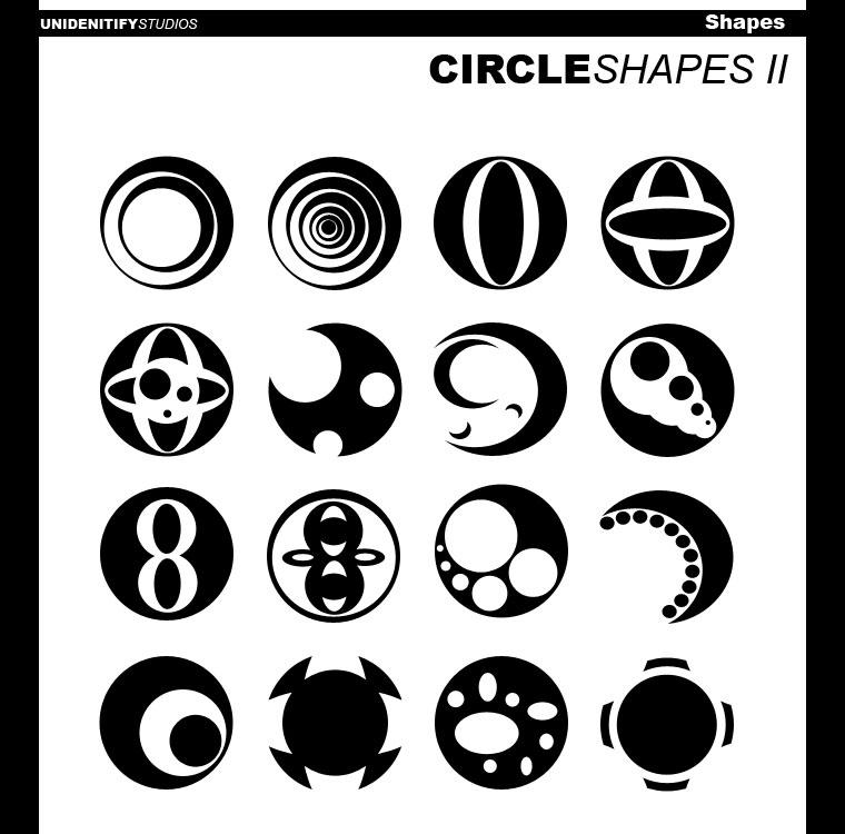 Circle Shapes II for Photoshop by UnidentifyStudios on