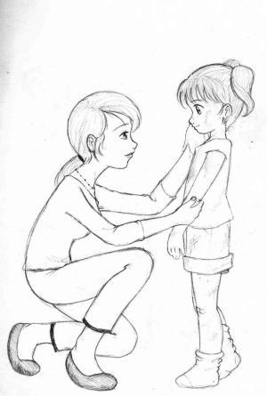daughter mother deviantart kra drawings anime manga