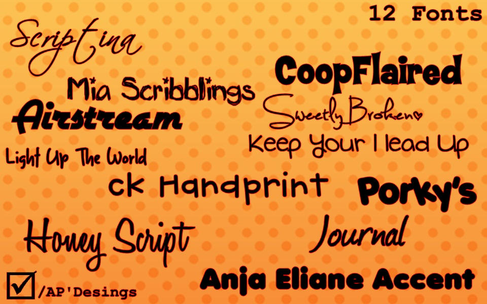 Download Pack' 12 Fonts by AgentePDesings on DeviantArt