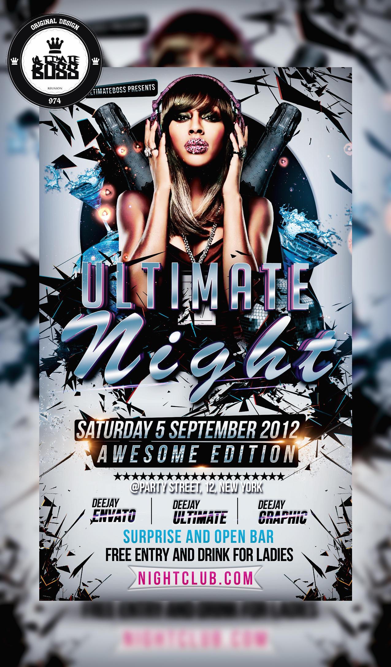 Freemium Psd Ultimate Night Flyer By Ultimateboss