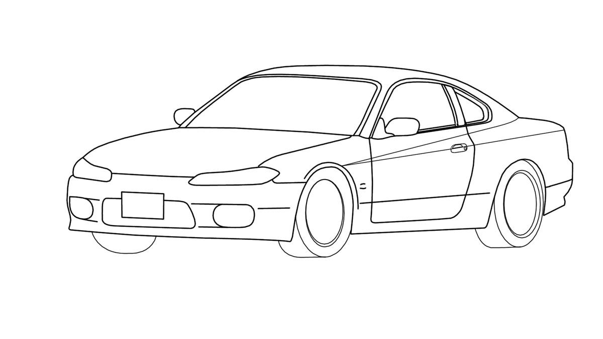 nissan silvia s-15 Outline by ragingpixels on DeviantArt