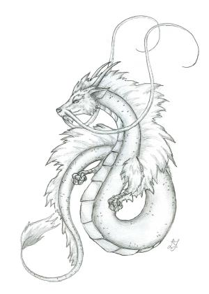 japanese dragon drawings drawing sketch sketches tattoo dragons traditional tattoos deviantart 2006 chinese pencil drachen zeichnung chinesische easy paintingvalley fantasy