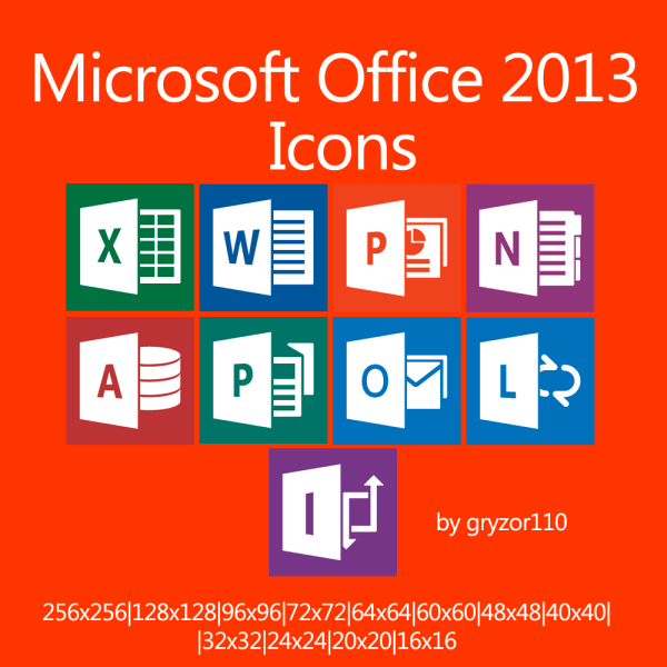 Microsoft Office 2013 Icons by gryzor110 on DeviantArt