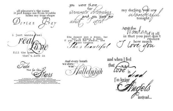 Beautiful Text Brushes by xXSternenkindXx on DeviantArt