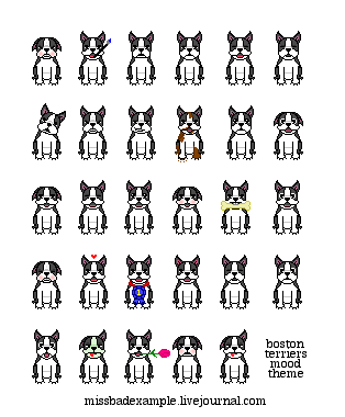 boston terrier LJ mood theme by thesearenoblues on DeviantArt