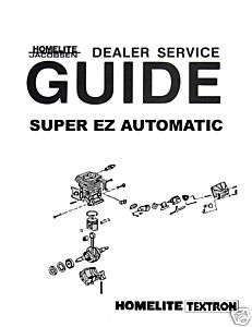 HOMELITE 250 CHAIN SAW Owners Manual with Parts List