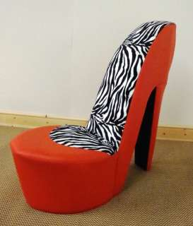 red heel chair lane office chairs stiletto shoe high animal print