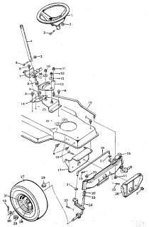 Case Ingersoll 4016 Lawn tractor 3012 3014 3016 Steering
