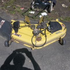 L130 Mower Deck Belt Diagram Honeywell Thermostat Rth6350d Wiring John Deere L120 Tractor 48 With Belt, Mulch Cap, And