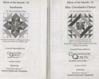 BLOCK PATCHWORK, TUMBLING BLOCKS Best Loved Quilt Pattern