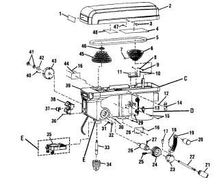 Craftsman 15 1/2 DRILL PRESS Manual Model 113.24611
