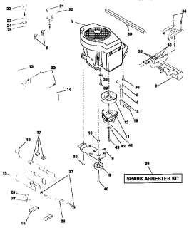 CRAFTSMAN Lawn, tractor Schematic diagram Parts Model