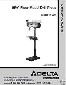CRAFTSMAN 113.213720 8 Bench Drill Press Instructions