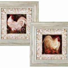 Rooster Kitchen Decor Home Depot Range French Country Cushioned Rug Pretty Roosters Mat Set 2 Art Framed