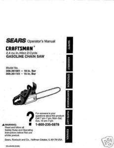 Craftsman Snow Thrower Manual Model No 247 888550