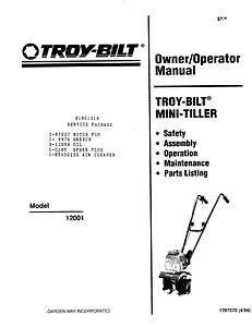 Belt for Troy Bilt troybilt tiller tine pony models 1/2 x