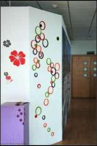 Indoor climbing wall.