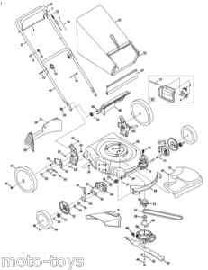 Troy Bilt Trailblazer Sickle Mower Ledger Section (P406655, GW