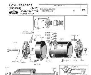 Ford Tractor 9N 2N 8N Assembly Manual and Service Parts