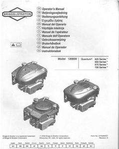 Briggs and Stratton 5HP Lifters Model 135202 011701 NR