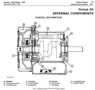 John Deere 316 Onan Hydrostatic Transmission Release Lever 318