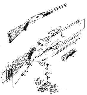 MOSSBERG MODEL 380 .22 Semi Automatic RIFLE GUN MANUAL