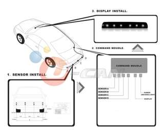 Garage Parking Sensor Stop Sign Flashing LED Stop Light