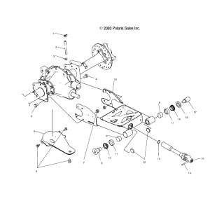 OEM Parts Polaris ATP 500 4X4 (A04JD50AA/AB/CA) 2004 SWING