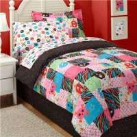 Girls Teens Pink Rock Guitar Comforter Bedding Set Twin
