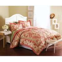 Valerie Bertinelli Floral Quilt Set ~3 Pc~ Full/Queen ...