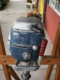 Floor Lamp Vintage Boat Motor Antique Red 65in Fishing