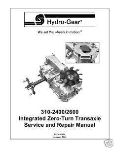 Eaton Hydrostatic Transaxle 850 Repair Part Manual