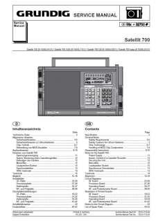 Vintage Germany Grundig Satellit 2100 LW MW FM 18SW Dbl C